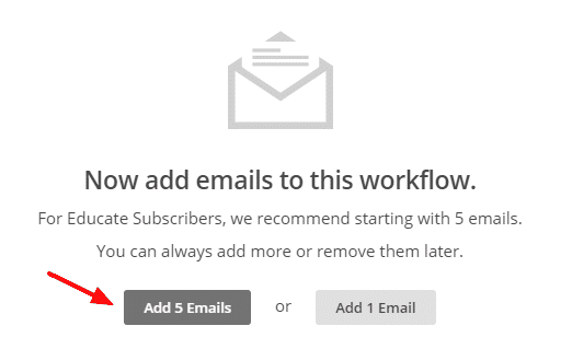 autoresponder  add 5 Emails   MailChimp