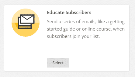 educate subscribers mail chimp autoresponder