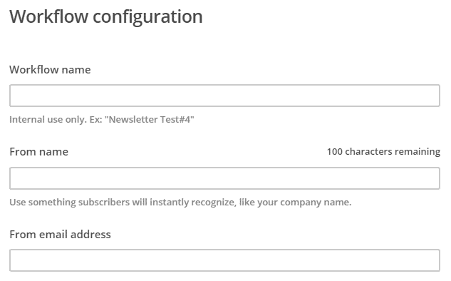 workflow configuration mail chimp autoresponder
