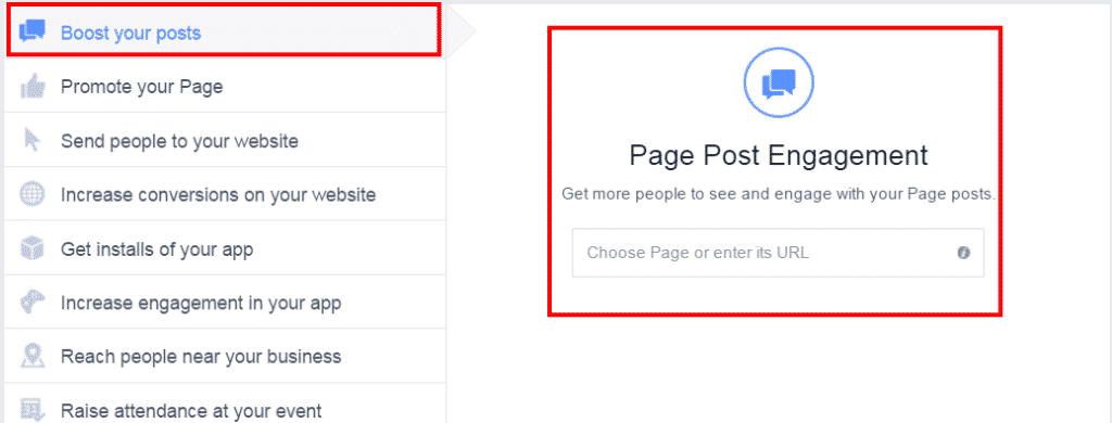 boost your posts page post engagement facebook ads