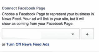 connect facebook page to increase like facebook ads