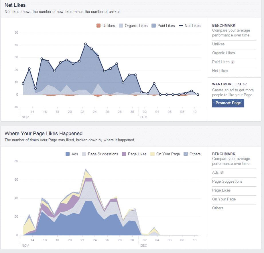 likes facebook insights